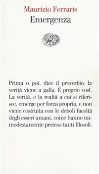 Emergenza - Maurizio Ferraris
