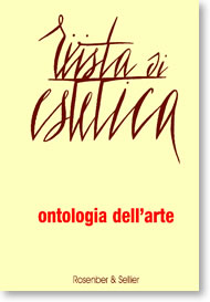 Ontologia dell'arte cover