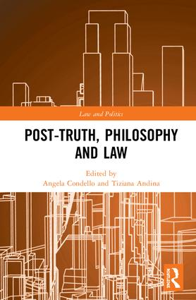 Post-Truth, Philosophy and Law cover